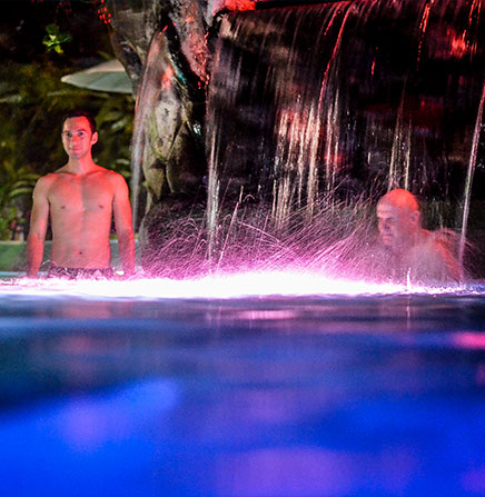 Natural Hot Springs in Arenal Volcano.