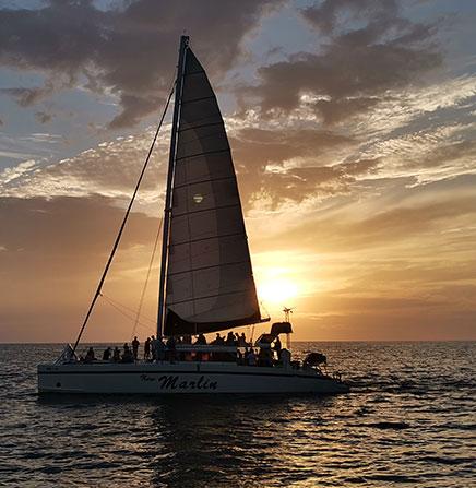 Catamaran Sunset Tour in the Pacific