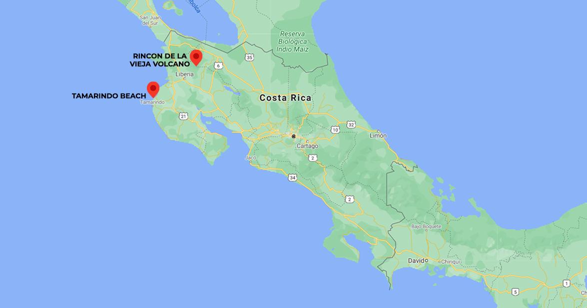 North Pacific Costa Rica, Mountains & Beaches. 7-days trip in Costa Rica