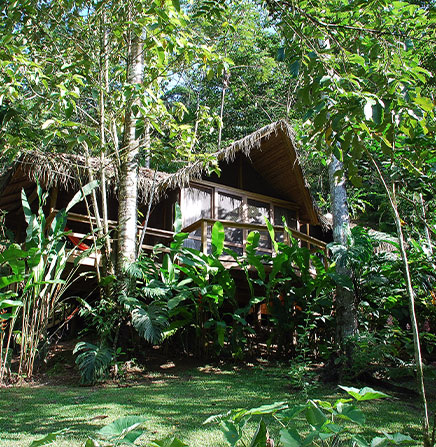 The Pacuare Lodge, in the Pacuare River
