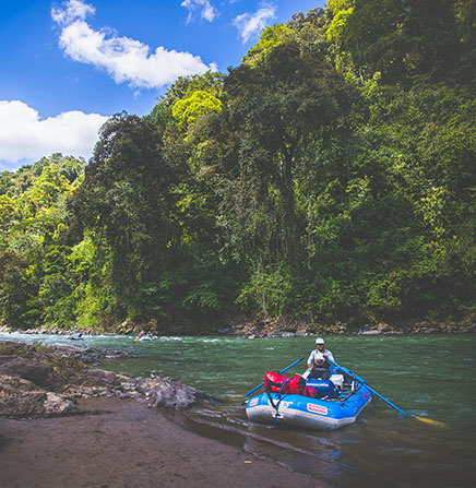 Whitewater rafting in the Pacuare River of Costa Rica