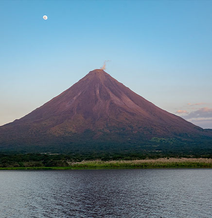 Arenal Volcano and Arenal Lake view