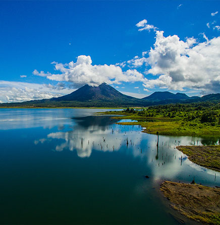 Arenal Lake View & Arenal Volcano, Costa Rica.