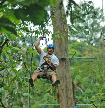 Zip line tour in Monteverde, Costa Rica