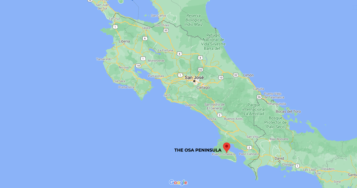The Osa Peninsula, Corcovado National Park, South Pacific of Costa Rica