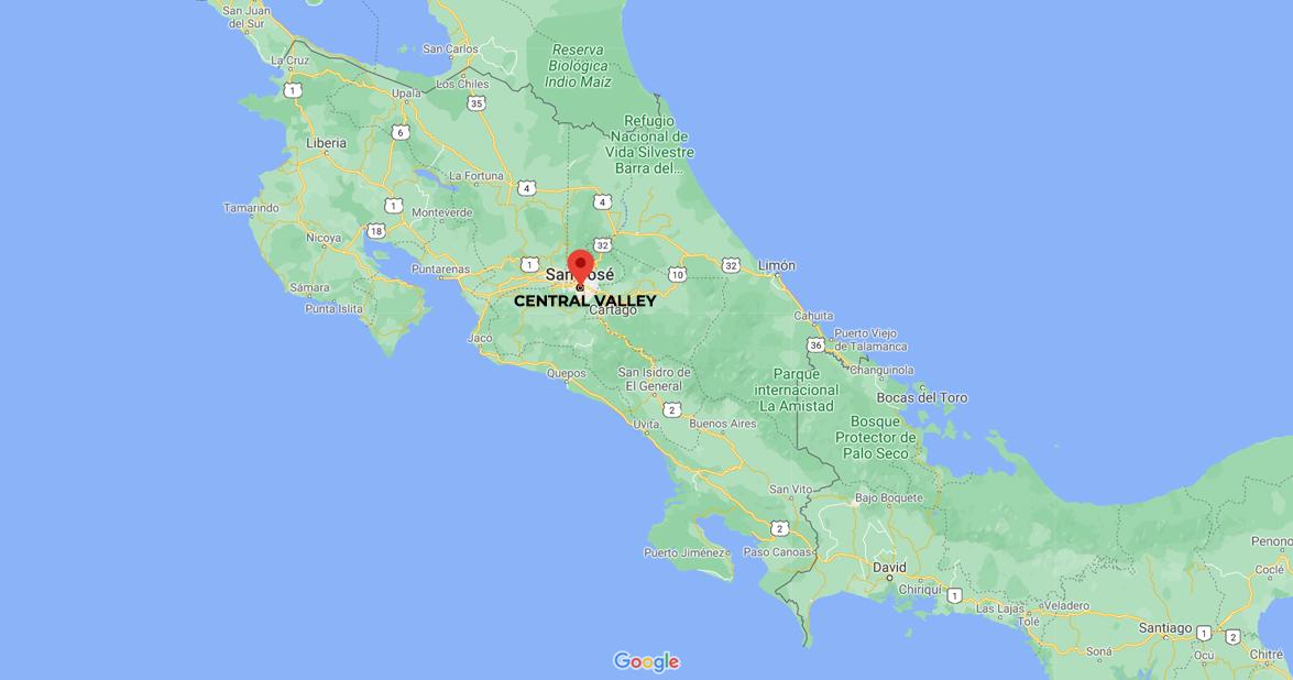Central Valley of Costa Rica: San Jose, Cartago, Heredia, and Alajuela